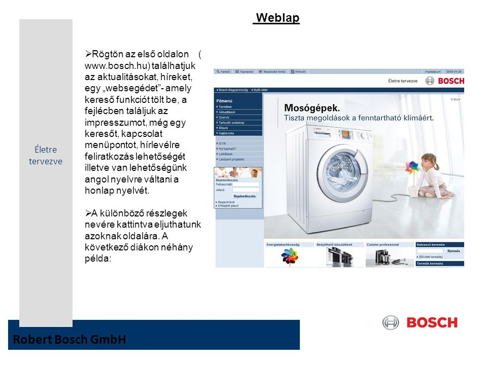 Robert Bosch GmbH Weblap