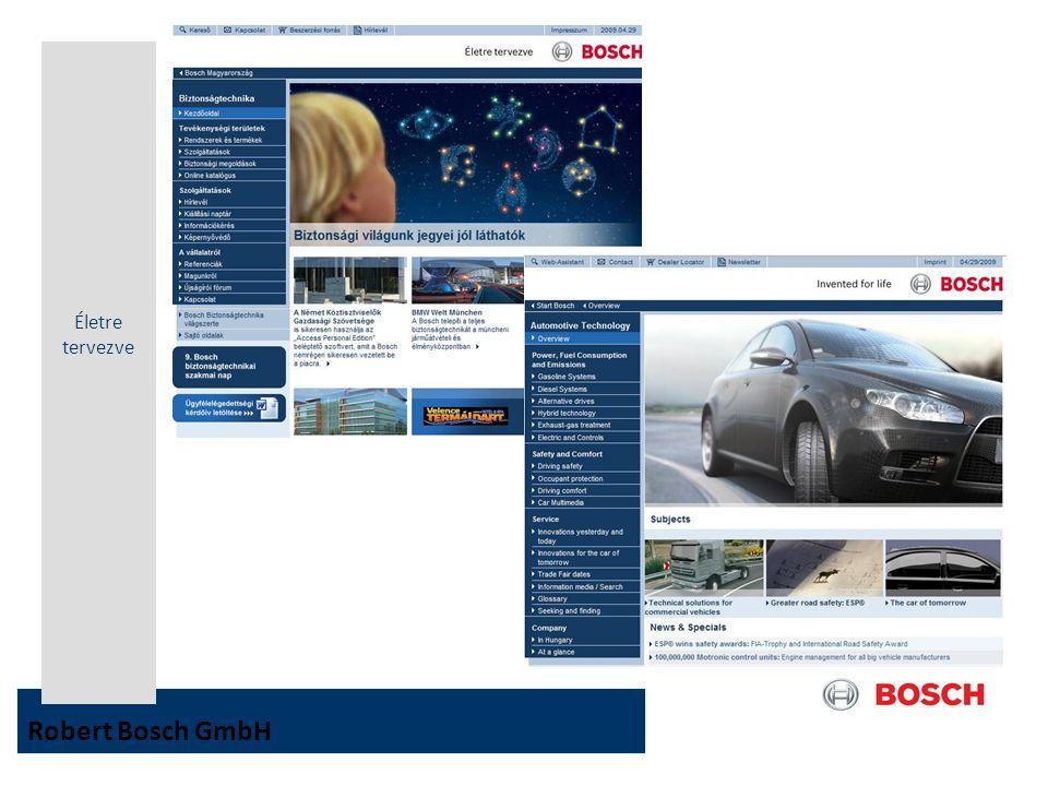 Életre tervezve Robert Bosch GmbH