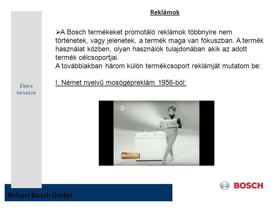 Robert Bosch GmbH Reklámok