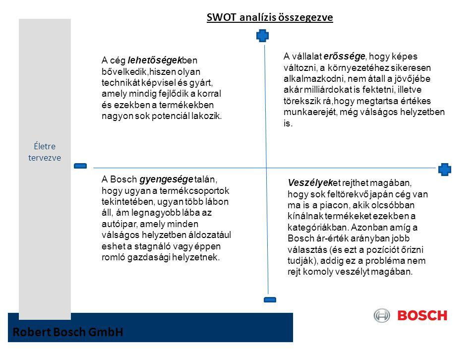 SWOT analízis összegezve