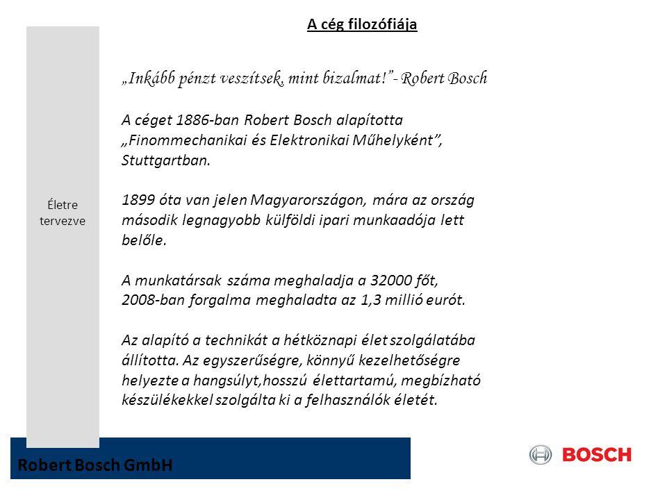 """""""Inkább pénzt veszítsek, mint bizalmat! - Robert Bosch"""