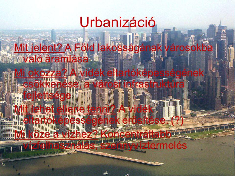 Urbanizáció Mit jelent A Föld lakosságának városokba való áramlása