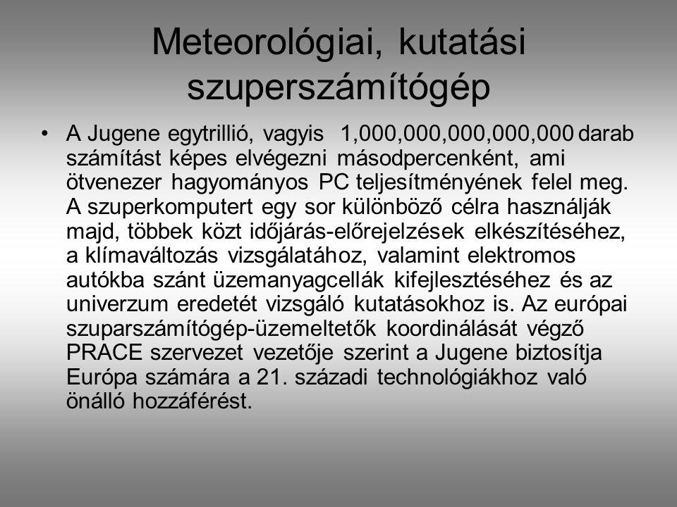 Meteorológiai, kutatási szuperszámítógép