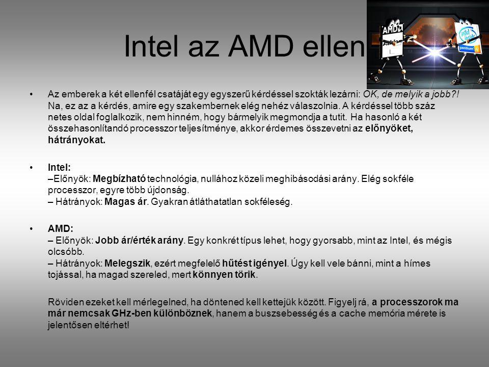 Intel az AMD ellen
