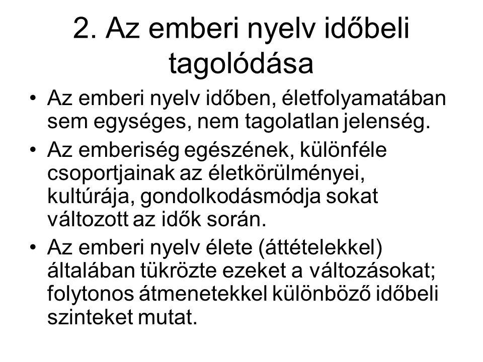 2. Az emberi nyelv időbeli tagolódása
