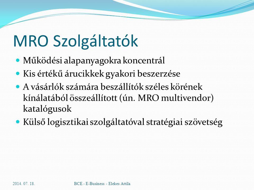MRO Szolgáltatók Működési alapanyagokra koncentrál