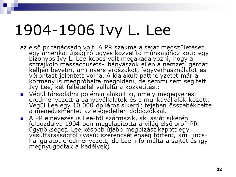 1904-1906 Ivy L. Lee