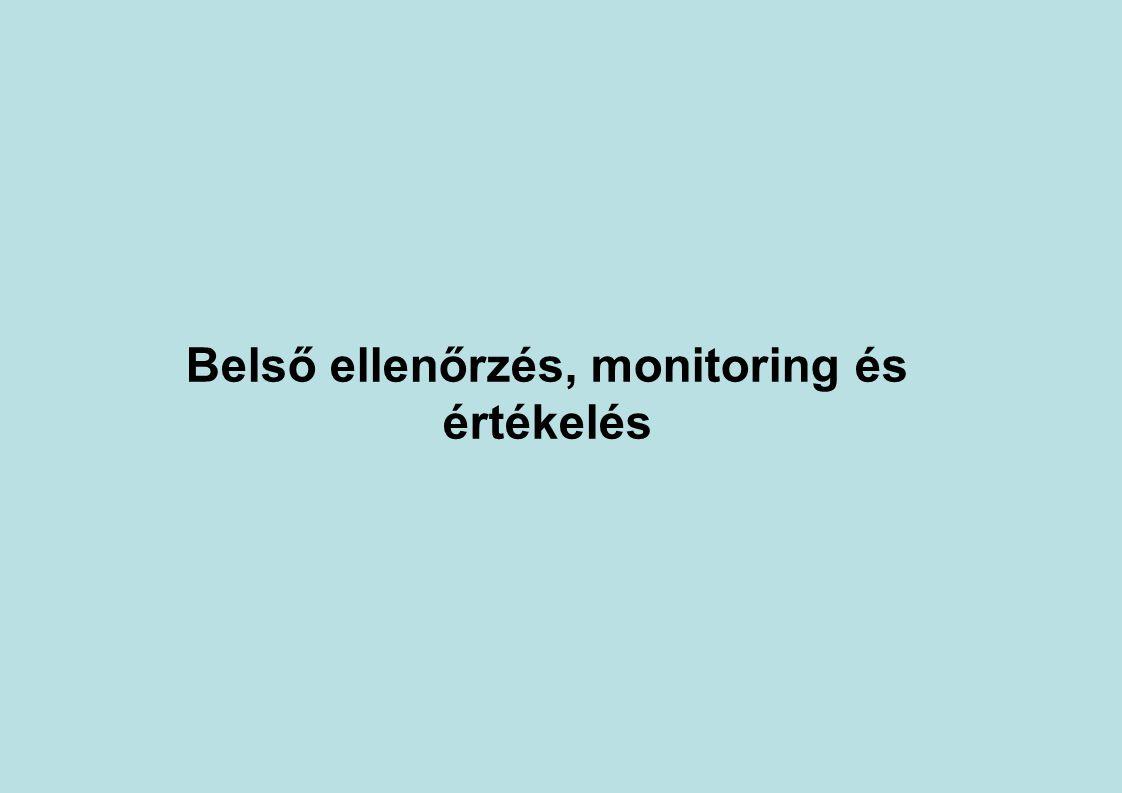 Belső ellenőrzés, monitoring és értékelés
