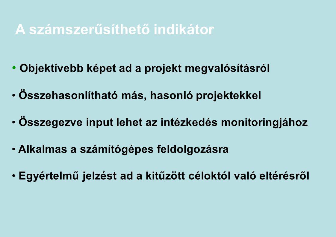 A számszerűsíthető indikátor