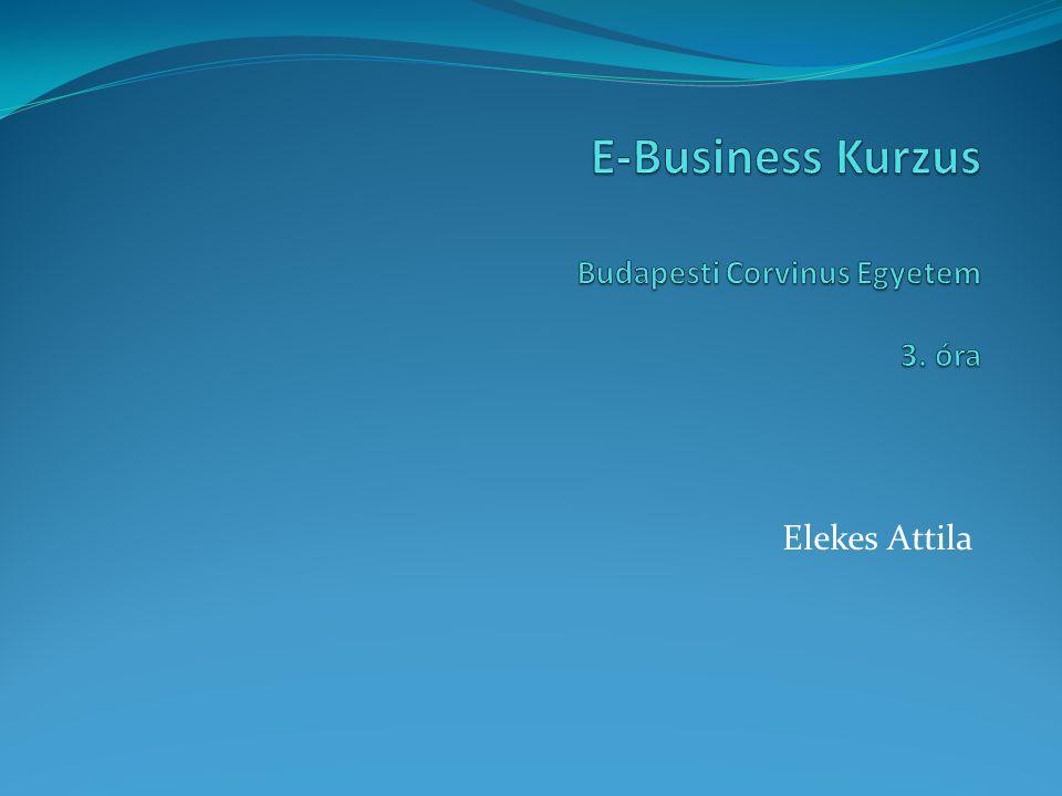 E-Business Kurzus Budapesti Corvinus Egyetem 3. óra