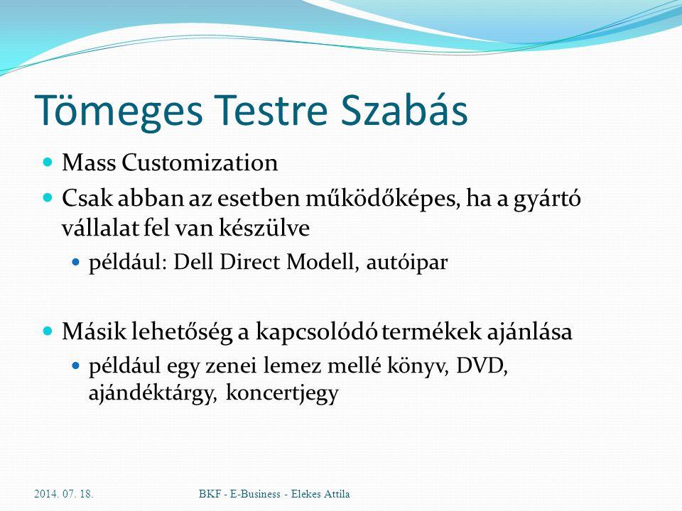 Tömeges Testre Szabás Mass Customization