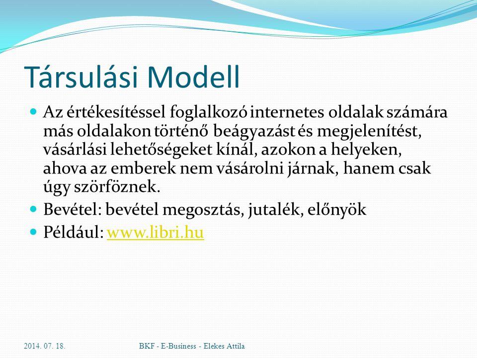 Társulási Modell