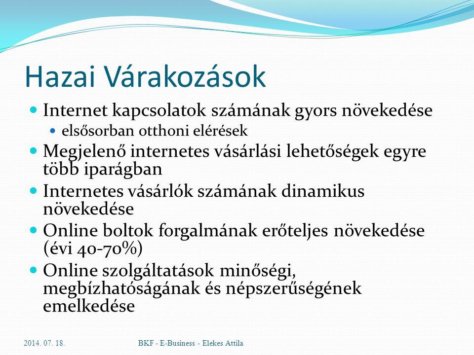Hazai Várakozások Internet kapcsolatok számának gyors növekedése