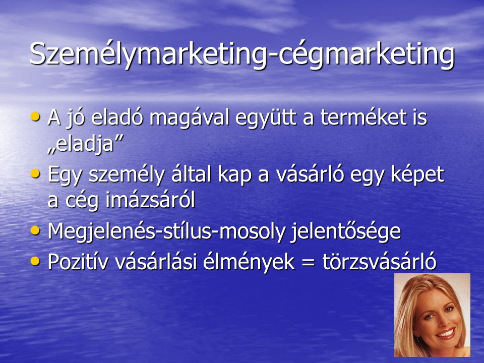 Személymarketing-cégmarketing