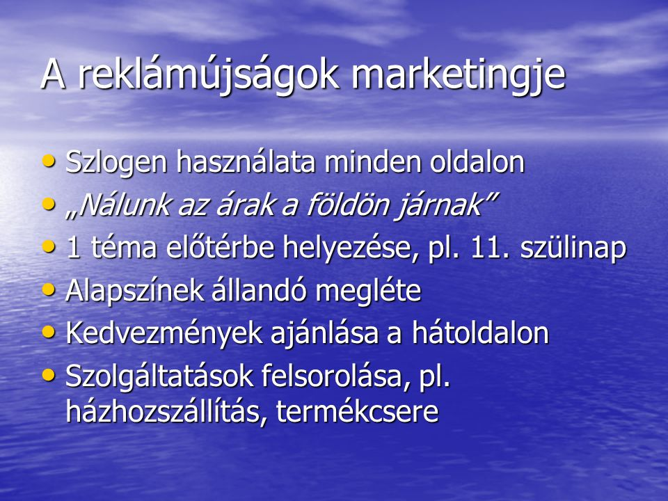 A reklámújságok marketingje
