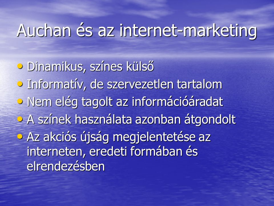 Auchan és az internet-marketing