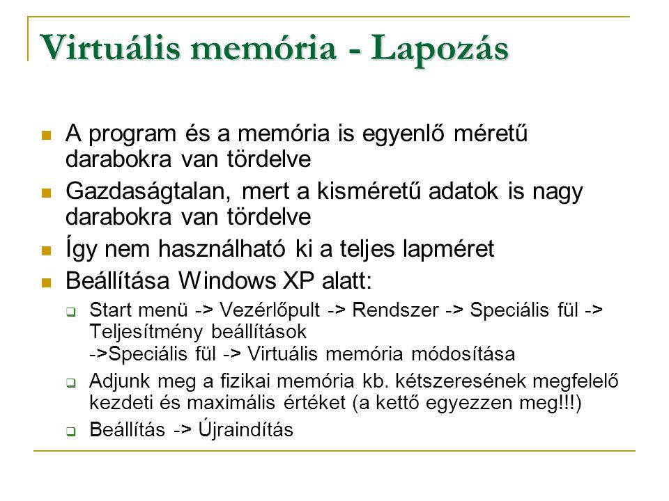 Virtuális memória - Lapozás