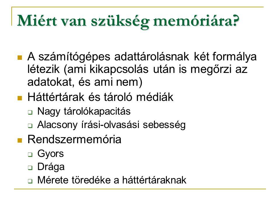 Miért van szükség memóriára