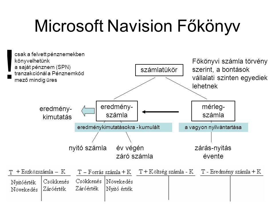 Microsoft Navision Főkönyv