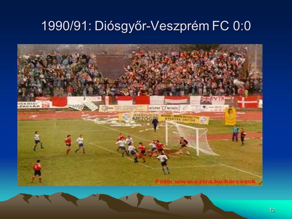 1990/91: Diósgyőr-Veszprém FC 0:0