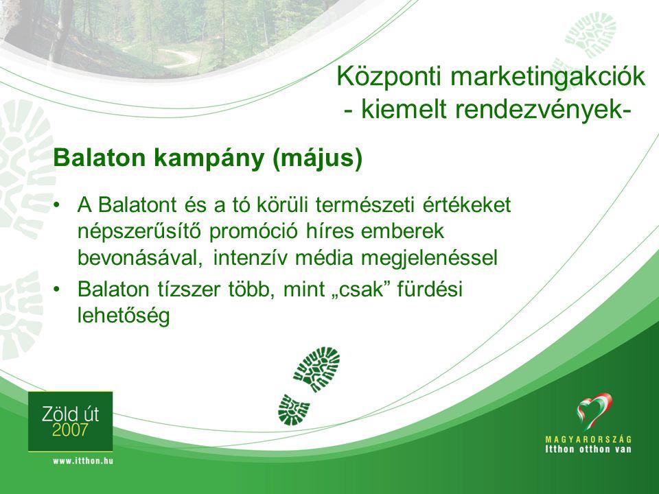 Központi marketingakciók - kiemelt rendezvények-