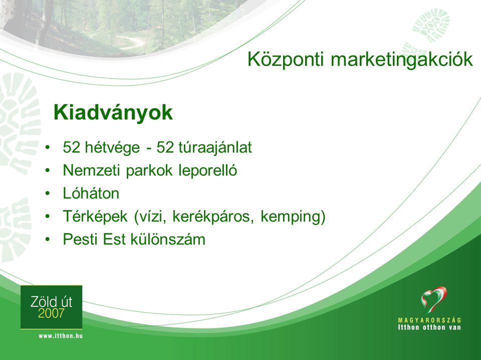 Kiadványok Központi marketingakciók 52 hétvége - 52 túraajánlat