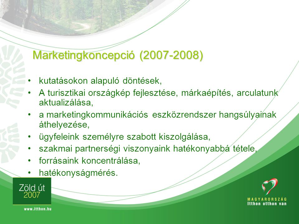 Marketingkoncepció (2007-2008)
