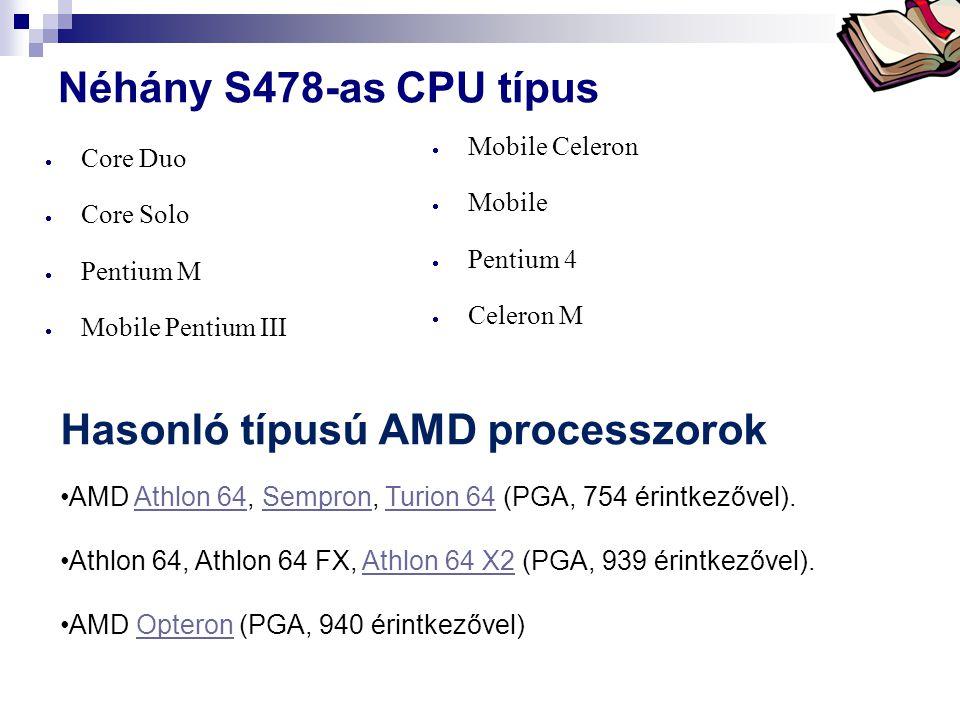 Hasonló típusú AMD processzorok