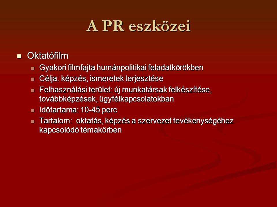 A PR eszközei Oktatófilm