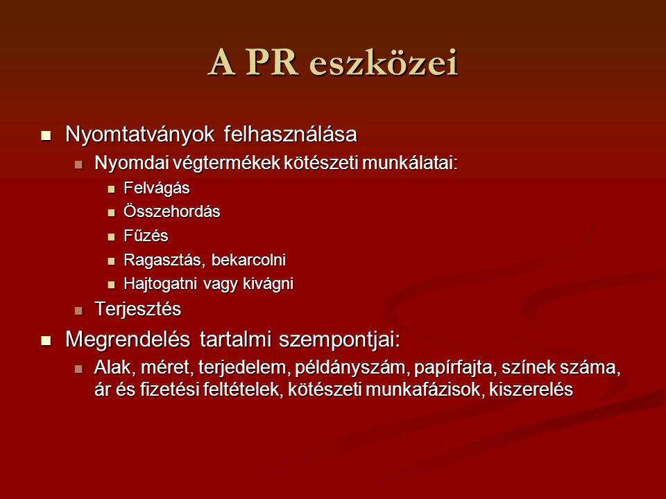 A PR eszközei Nyomtatványok felhasználása