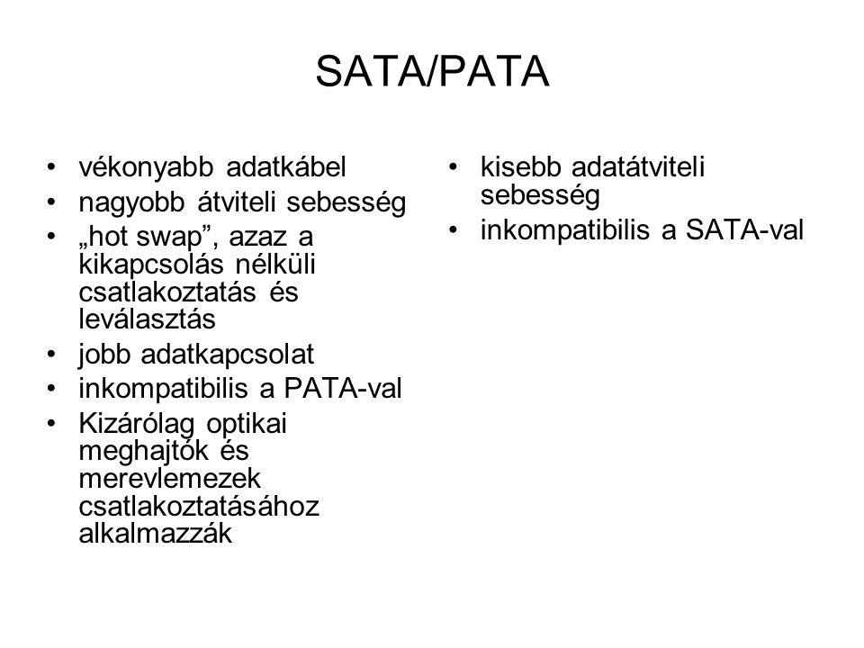 SATA/PATA vékonyabb adatkábel nagyobb átviteli sebesség