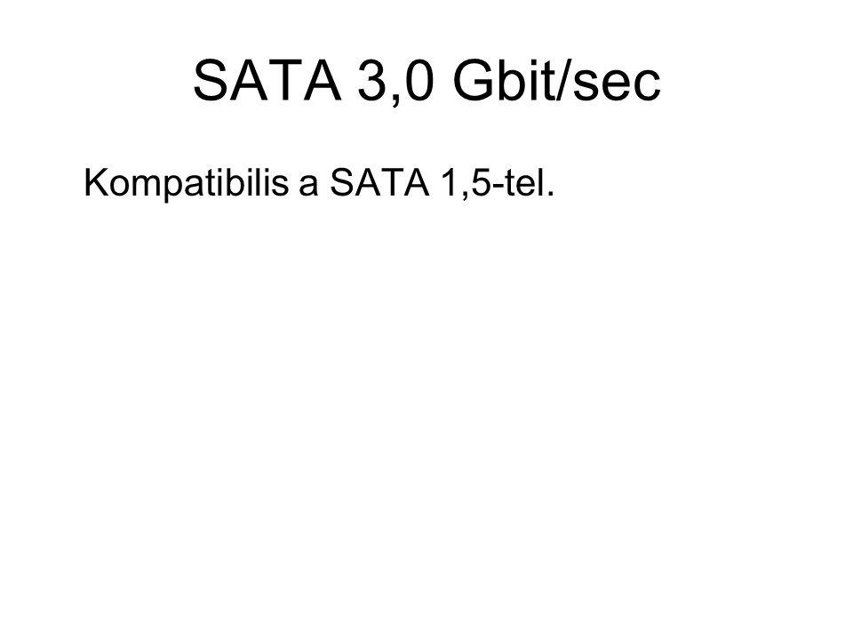 SATA 3,0 Gbit/sec Kompatibilis a SATA 1,5-tel.