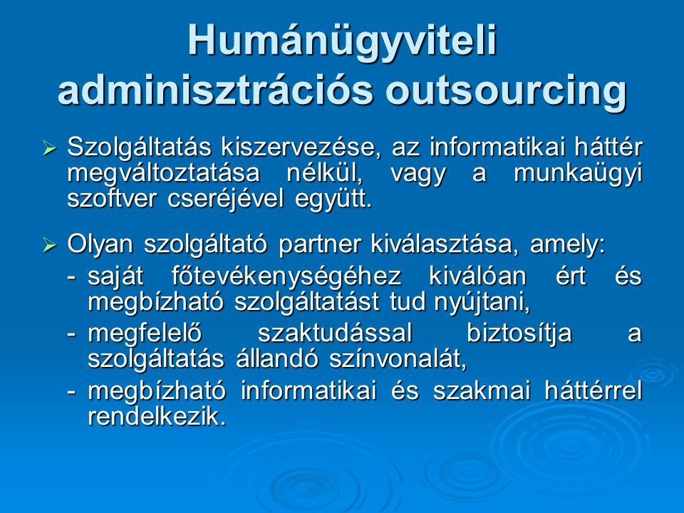 Humánügyviteli adminisztrációs outsourcing