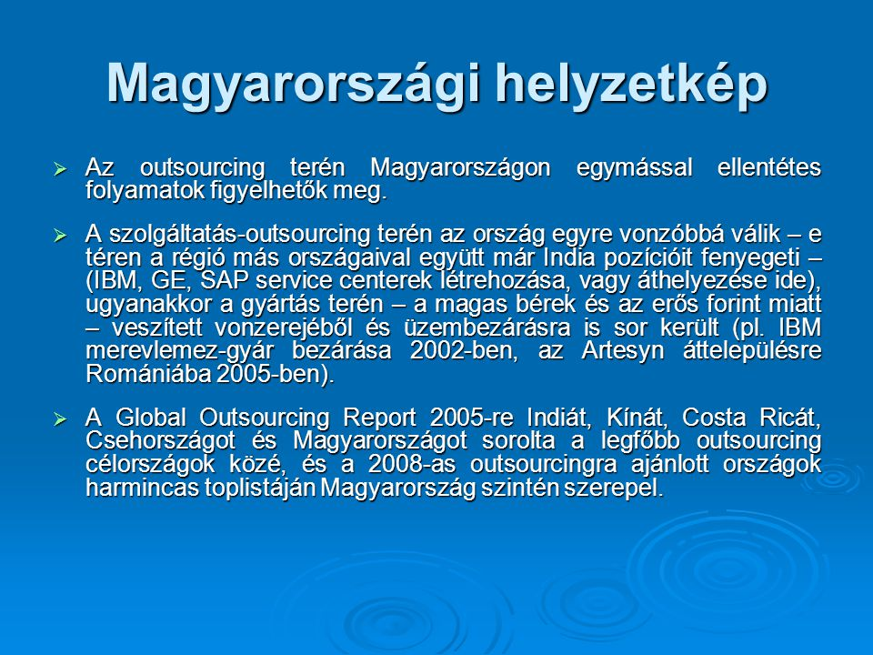 Magyarországi helyzetkép
