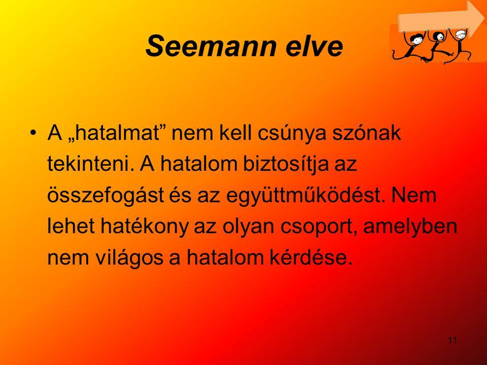 """Seemann elve A """"hatalmat nem kell csúnya szónak"""