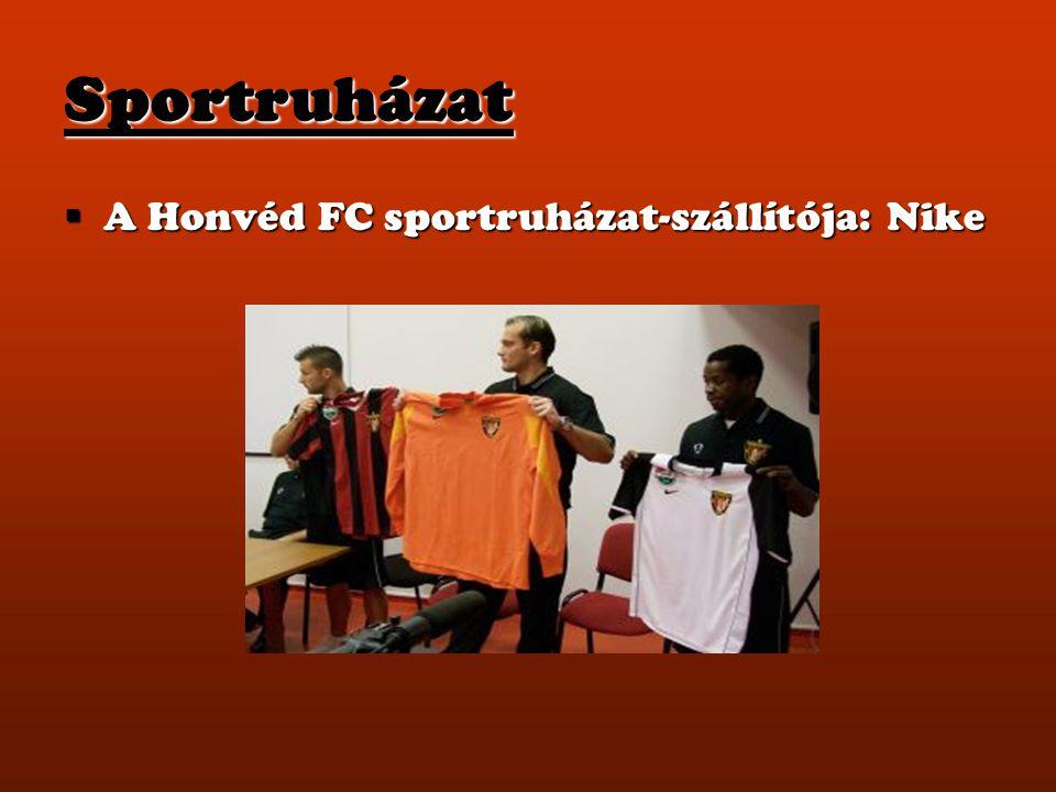 Sportruházat A Honvéd FC sportruházat-szállítója: Nike