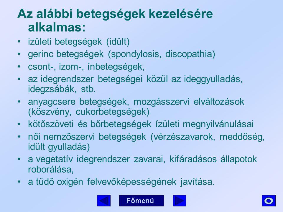 Az alábbi betegségek kezelésére alkalmas: