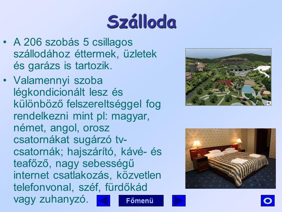 Szálloda A 206 szobás 5 csillagos szállodához éttermek, üzletek és garázs is tartozik.