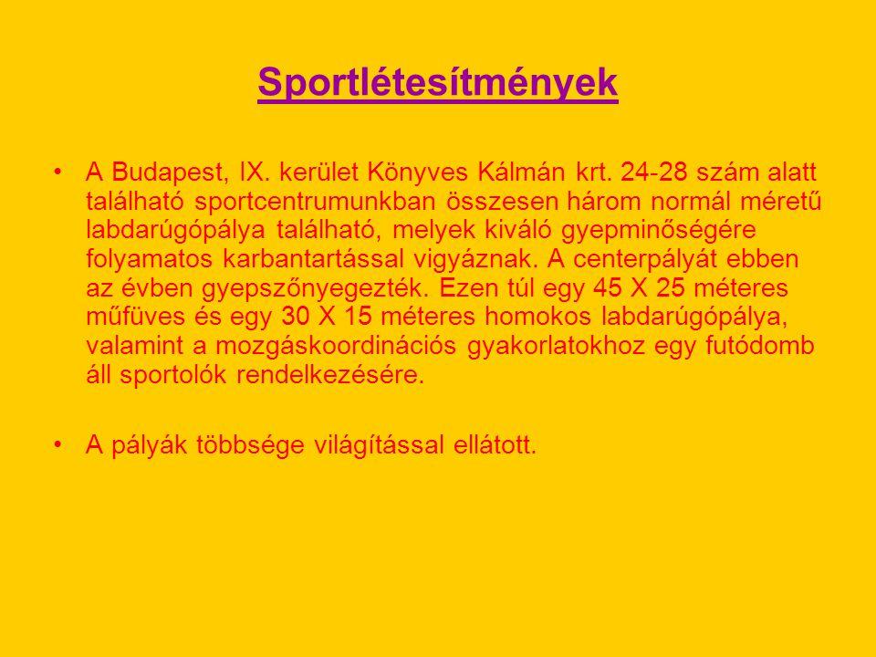 Sportlétesítmények