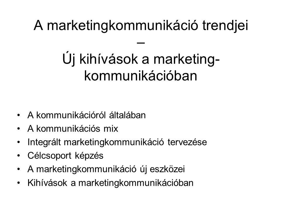 A marketingkommunikáció trendjei – Új kihívások a marketing- kommunikációban