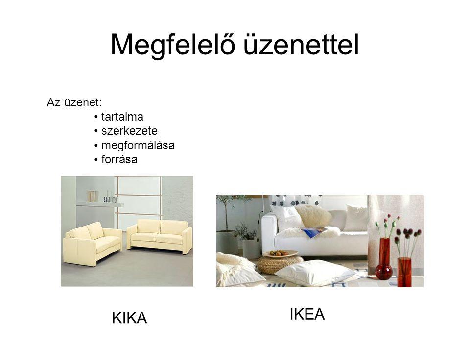 Megfelelő üzenettel IKEA KIKA Az üzenet: tartalma szerkezete
