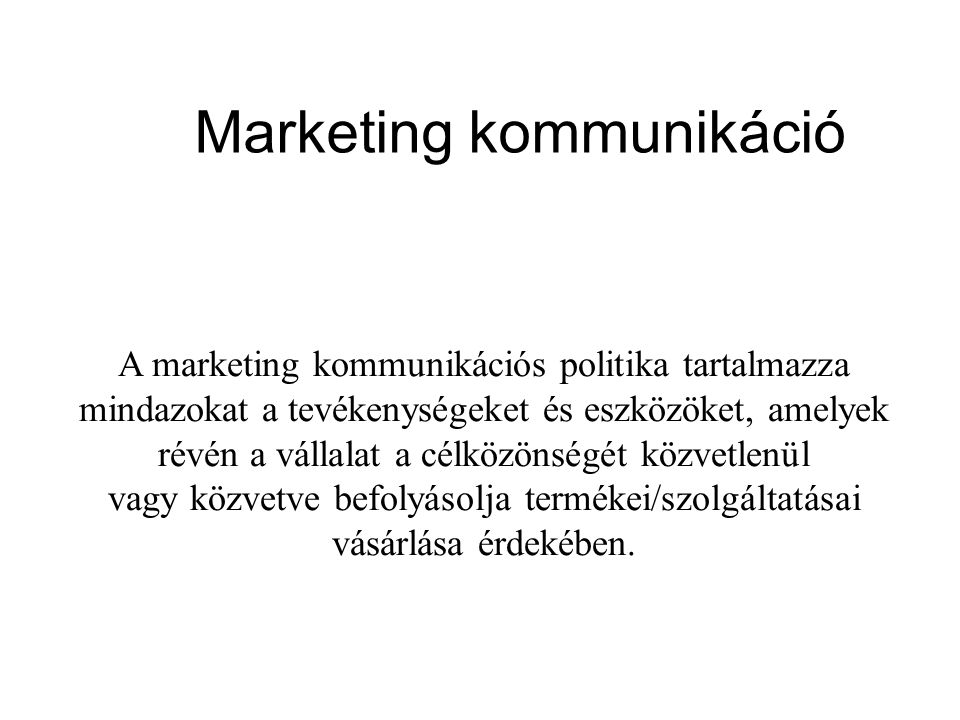 Marketing kommunikáció