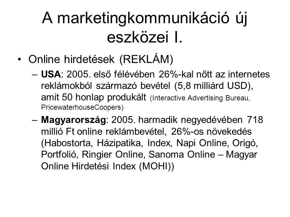A marketingkommunikáció új eszközei I.