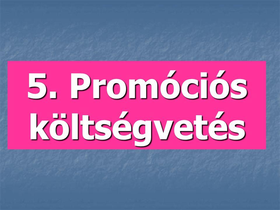 5. Promóciós költségvetés