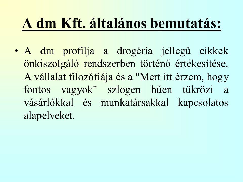 A dm Kft. általános bemutatás: