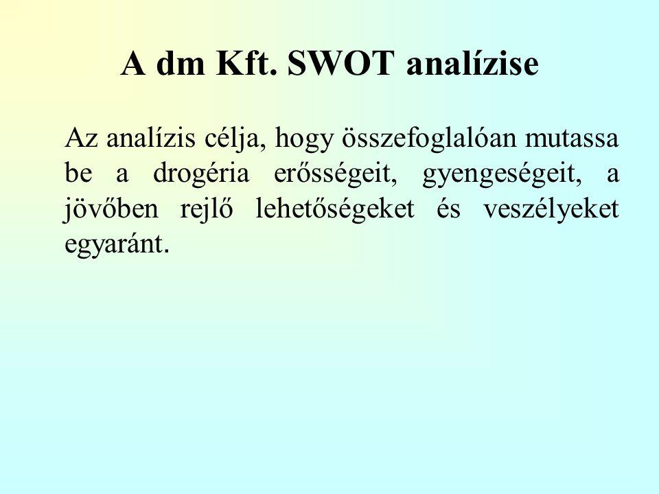 A dm Kft. SWOT analízise