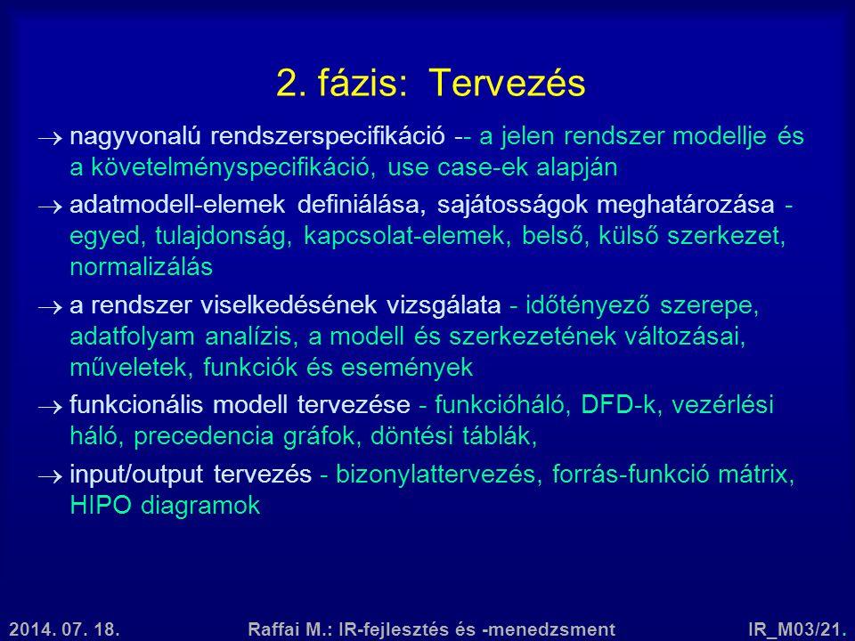 Raffai M.: IR-fejlesztés és -menedzsment