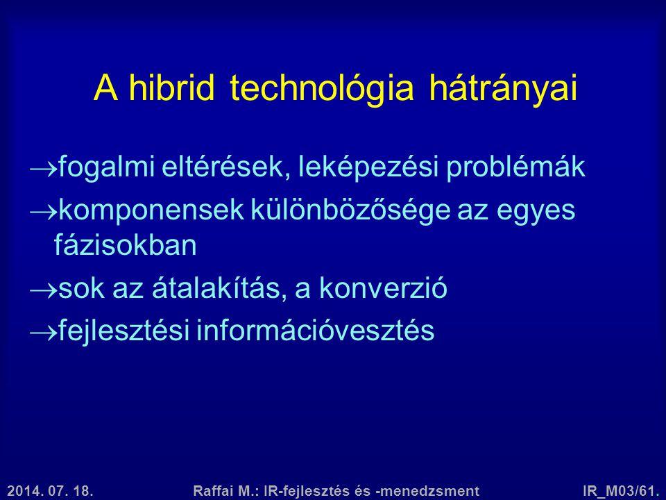 A hibrid technológia hátrányai
