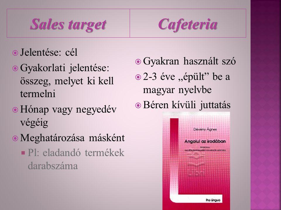 Sales target Cafeteria