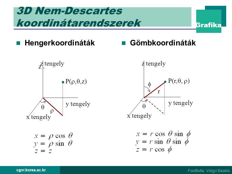 3D Nem-Descartes koordinátarendszerek